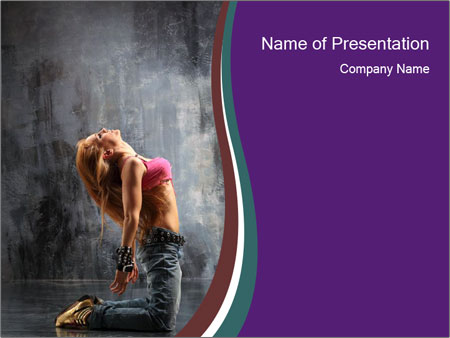 Jazz modern dance powerpoint template backgrounds id 0000024288 jazz modern dance powerpoint templates toneelgroepblik