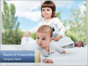 Baby and Small Girl PowerPoint Templates