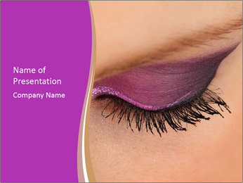 Violet Eyeshadow PowerPoint Template