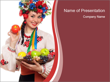 Ukrainian folklore powerpoint template backgrounds id 0000024417 ukrainian folklore powerpoint templates toneelgroepblik Image collections