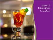 Cocktail at Bar Stand Modèles des présentations  PowerPoint
