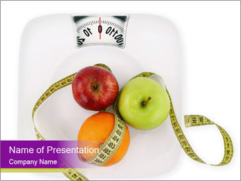Apples on Scales PowerPoint Template