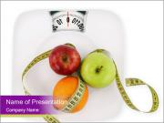 Apples on Scales PowerPoint Templates