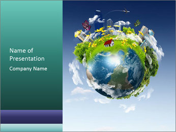 Protected Earth by Humans Sjablonen PowerPoint presentatie