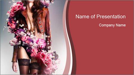 Victoria Secret Fashion Model Powerpoint Template Backgrounds
