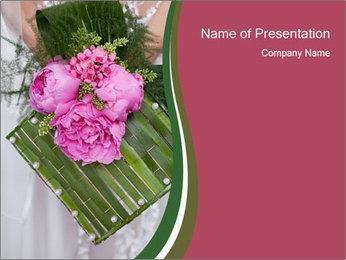 Creative Wedding Bouquet PowerPoint Template
