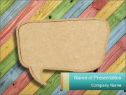 Cardboard on Colorful Background Szablony prezentacji PowerPoint