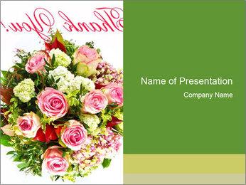 Pink Bouquet PowerPoint Template