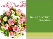Pink Bouquet PowerPoint Templates