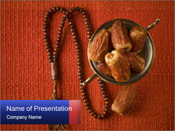 Sweet Dates and Islamic Rosary PowerPoint Template
