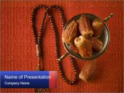 Sweet Dates and Islamic Rosary PowerPoint Templates