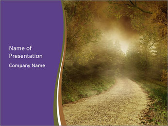 Foggy Road PowerPoint Template