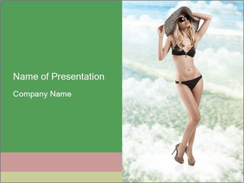 Lady in Broad Hat PowerPoint Template
