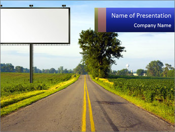 Narrow Road PowerPoint Template