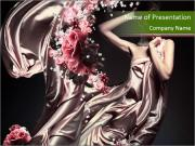 Woman in Long Pastel Silk Dress Шаблоны презентаций PowerPoint