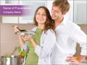 Young Wife Cooking Soup PowerPoint Templates