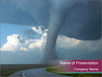 Tornado in the USA PowerPoint Template