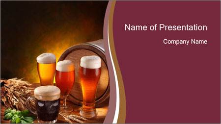 types of beer powerpoint template backgrounds google slides id