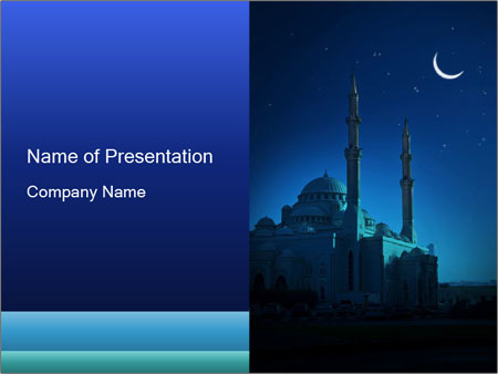Islamic mousque at night powerpoint template backgrounds google islamic mousque at night powerpoint template toneelgroepblik Image collections