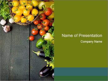 Harvest from Organic Vegetable Garden PowerPoint Template