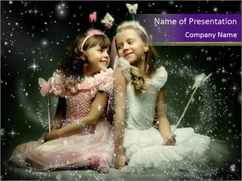 Two Small Princesses PowerPoint Template