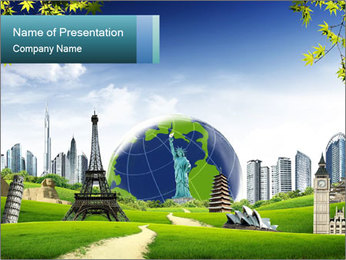 Main European Travel Attractions PowerPoint Template