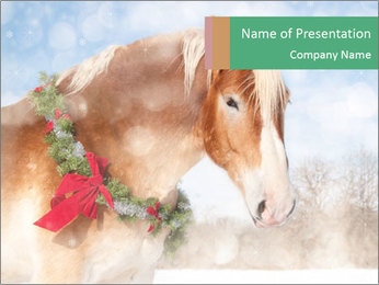 Christmas Magic Horse PowerPoint Template