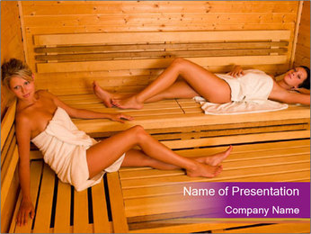 Health Benefits of Sauna PowerPoint Template