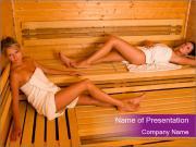 Health Benefits of Sauna PowerPoint Templates