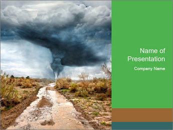 Coming Hurricane PowerPoint Template