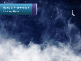 Dramatic Sky at Night PowerPoint Template
