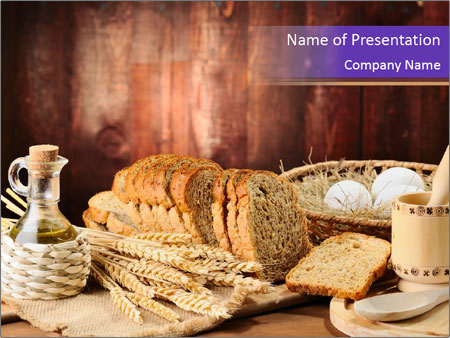 traditional bread recipe powerpoint template & backgrounds id, Modern powerpoint