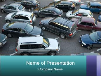 Irritative Traffic Jam PowerPoint Template