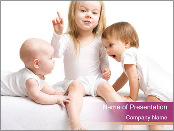 Small Sisters PowerPoint Template