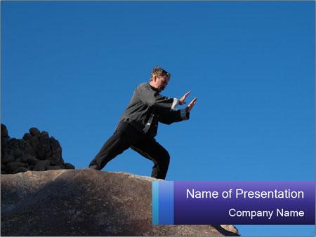 Man practising martial arts powerpoint template backgrounds id man practising martial arts powerpoint templates toneelgroepblik Image collections