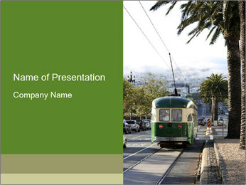 Local Tram PowerPoint Template
