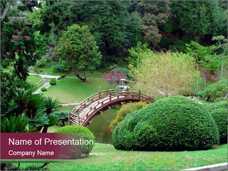 Japanese powerpoint template smiletemplates japanese garden powerpoint template toneelgroepblik Images