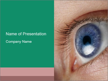 Bright Blue Eye PowerPoint Template