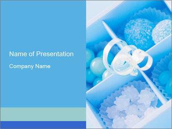 Blue Decorative Box Modèles des présentations  PowerPoint