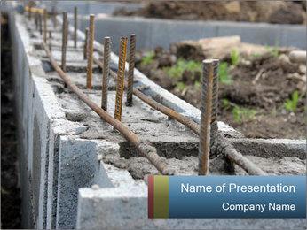 Brickwork in Process PowerPoint Template