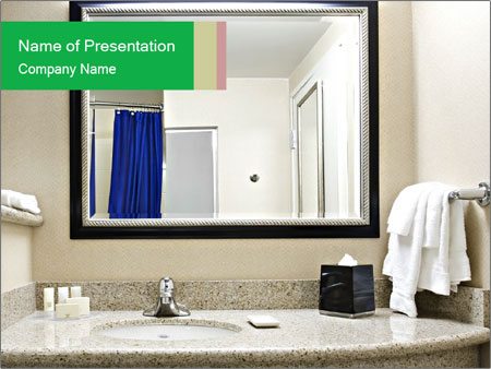 trendy bathroom powerpoint template backgrounds google slides