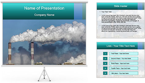 air pollution powerpoint template  backgrounds id,