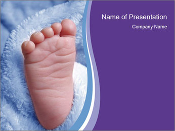Small Baby's Foot PowerPoint Template