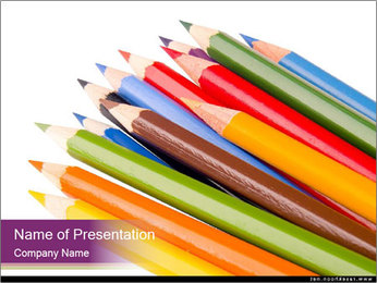 Full Pack of Pencils PowerPoint Template