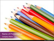 Full Pack of Pencils Шаблоны презентаций PowerPoint