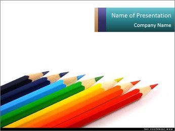Line of Pencils Modèles des présentations  PowerPoint