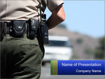 Road Police PowerPoint Template