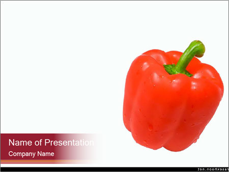 Sweet Red Pepper PowerPoint Template & Backgrounds ID 0000025877 ...