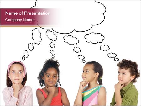 Conversation Between Kids PowerPoint Template, Backgrounds & Google ...