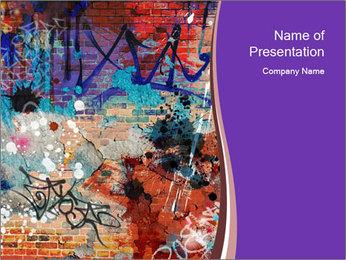 Abstract Graffiti Modèles des présentations  PowerPoint